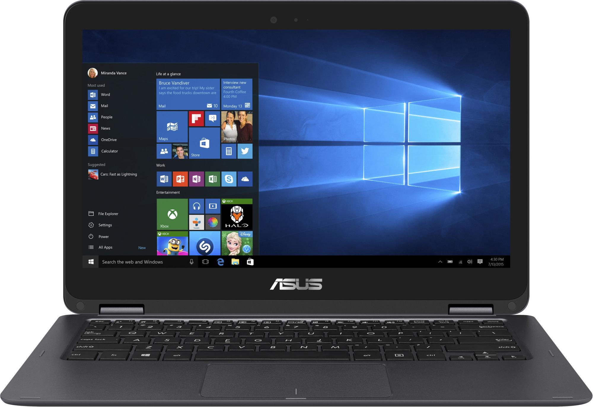 Displej a klávesnice notebooku Asus ZenBook Flip UX360CA