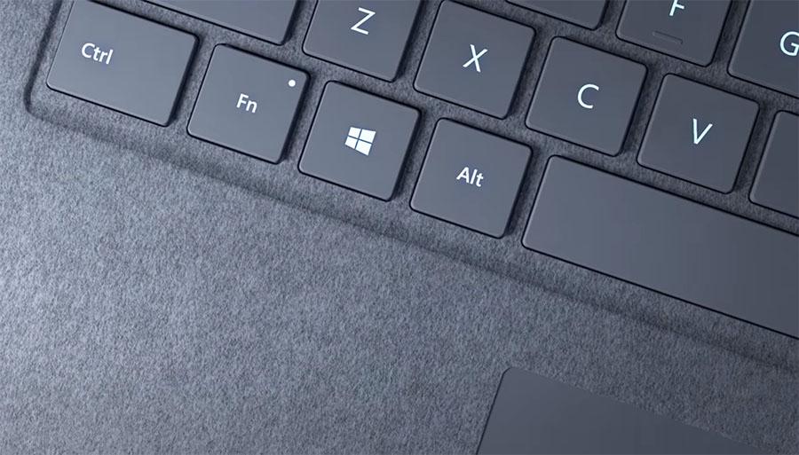 Surface Laptop - klávesnice